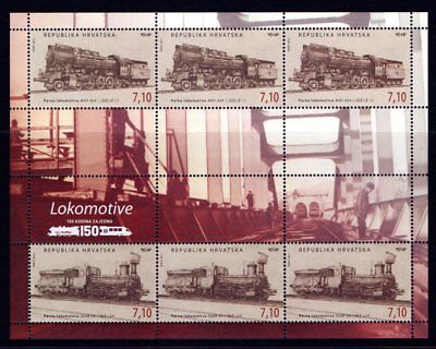 Croatia 2012 Locomotives Sheetlet 6 MNH