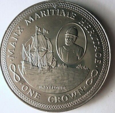 ISLE OF MAN 1 CROWN 2010 KM # 1471 UNC BUCKINGHAM PALACE VERY COLLECTIBLE COIN