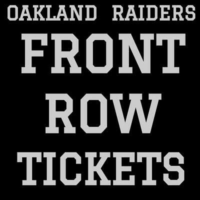 OAKLAND RAIDERS · FRONT ROW TICKETS · MONDAY DECEMBER 24 vs DENVER BRONCOS