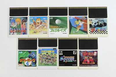 Lot of 9 F1 Circus Golf Power League HuCard Only PC Engine PCE Japan Import