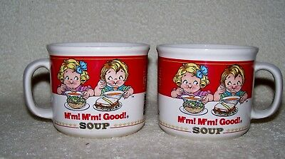 Pair of Vintage (1989) Campbell Soup Kids Soup Mugs