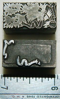 Letterpress Printing Printer Block Press Metal Type 2 Color Christmas Ornament