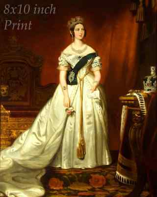 Queen Victoria Consort 1840  8x10 Print 1189 Prince Albert by John Partridge