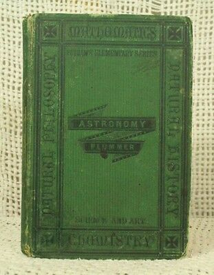 Introduction to Astronomy rare antique old book John Isaac Plummer 1873