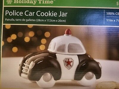 Police Car Cookie Jar Brand New Factory Packaging and Box