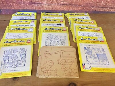 Aunt Marthas Hot Iron Transfers Big Lot Of 11 Variety of Iron On's
