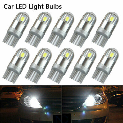 10x T10 Bulbs W5W 501 Canbus Lights LED COB SMD 3030 Bright White Car Error Free