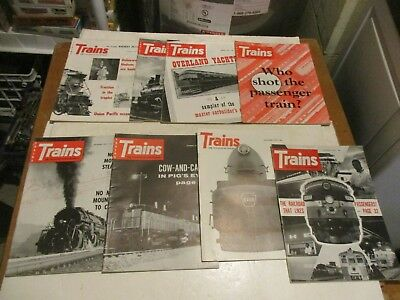 Set Of 1959 Trains Magazines In Very Good Condition