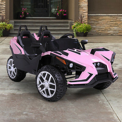 12V Kids Ride on Cars Electric Battery Remote Control Light Truck Music Pink