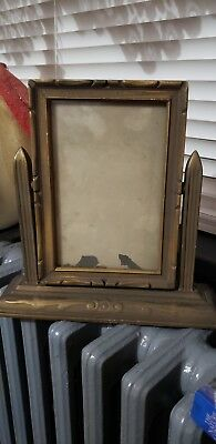 Antique Art Deco Table Top Swing Frame, Wooden