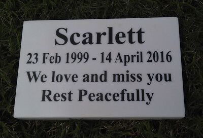 Custom Engraved Stone Pet Memorial Headstone Dog Cat Grave Marker Plaque Stone