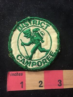 Vintage (circa early 1970s) Hiker DISTRICT CAMPOREE BSA Boy Scouts Patch 83N