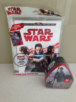 Star Wars - Folder With Tin Of 40 Extra Stickers Brand New