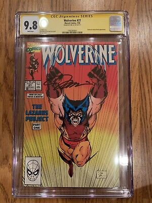 Wolverine #27 (Marvel 1990) CGC 9.8 signed by JIM LEE