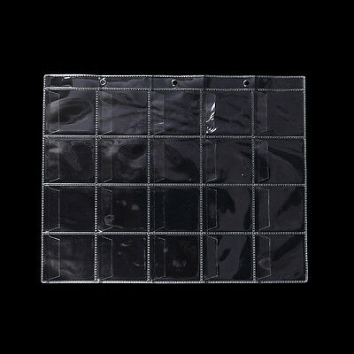 5 Pages 20 Pockets Plastic Coin Holders Storage Collection Money Album Case NT
