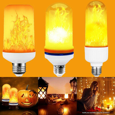 E27 99 LED Flame Fire Effect Simulated Nature Light Bulb Decor Flickering Lamp