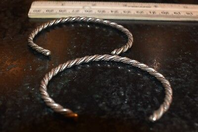 Sterling Navajo Twisted wire bracelets coil old pawn