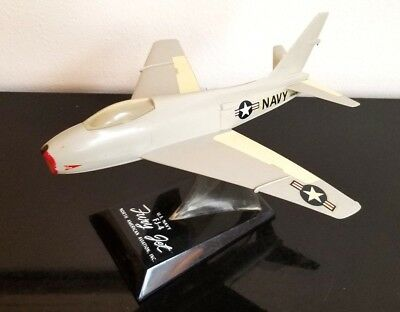 RARE Topping Model, U.S. Navy Aircraft FJ-4 Fury Jet With Original Stand