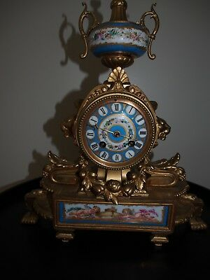 French Mantle Clock Antique 19th Century