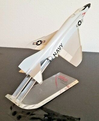 RARE Beautiful Model Airplane McDonnel F4H Navy Phantom With Original Stand