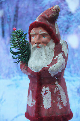 "ANTIQUE SANTA GERMAN BELSNICKLE CHRISTMAS c1910 - LARGE 10.5"" TALL!"
