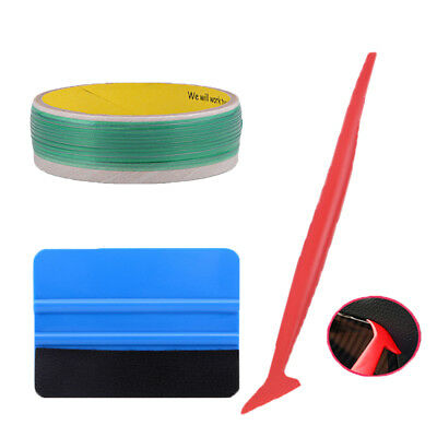 3 x Knifless Tape Cutter Micro Squeegee Fabric Felt 3D Carbon Fiber Tucking Tool