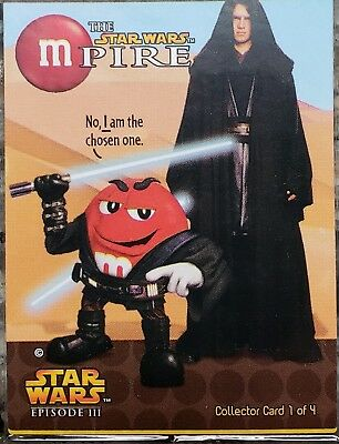 EXCLUSIVE M&M STAR WARS Mpire Episode III promotional sealed 4 card pack (2005)