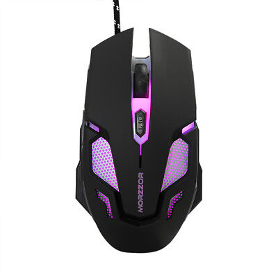 2400DPI 6D Buttons LED Optical Wired Kabelgebunden Gaming Maus Mouse + Mauspad