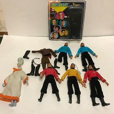 Vintage 1970's Mego Star Trek action figure and accessory  Toy lot