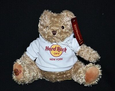 Hard Rock Cafe New York Hoodie Teddy Bear Collectable