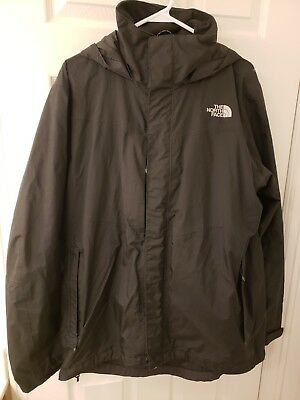 THE NORTH FACE Men's Full Zipper Hooded Gore-Tex Jacket - Black - Large