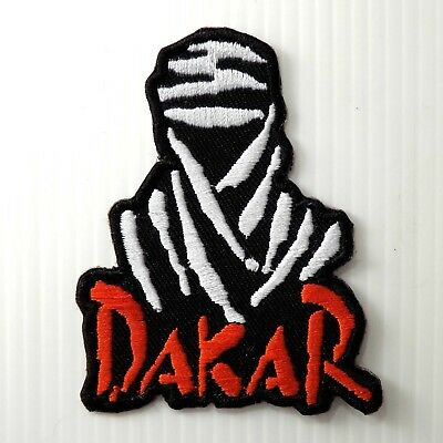 """3.0""""x1PC. DAKAR FIELD RALLY RACING SPORTS EMBROIDERED IRON ON SEW PATCH BADGE"""