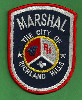 Richland Hills Texas Marshal Police Patch