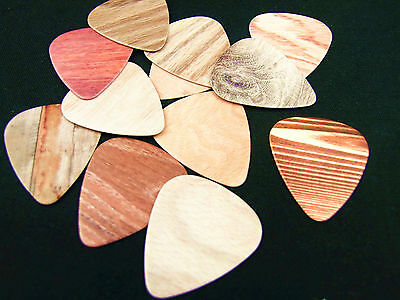 10pcs 0.71mm Musical Accessories Personal New Wood Grain Guitar Picks Plectrums