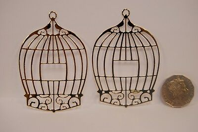 Embellishments Gold Die Cuts Bird Cage