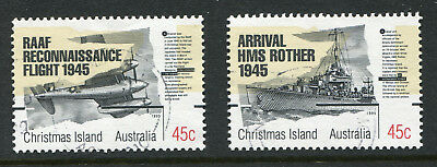 1995 Christmas Island.  50th Anniv of End of World War II.   Full set of 2 USED.