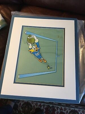 BOZO THE CLOWN PLAYING FOOTBALL Larry Harmon Sericel Animation Art Cel