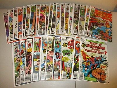 What If #1-30  (Full Lot of 30, Marvel Comics 1977 Series) Ave. FN+ #10 11 24 27
