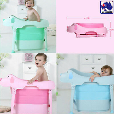 Infant Large Bath Tubs Bathtub Bathing Shower Folable Kids Chidlren BFB0288