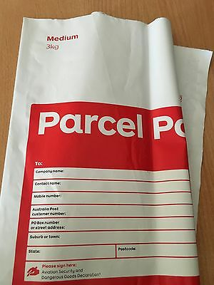 10 X 3 Kg Aust Post Regular  Pre-Paid Satchels With Tracking