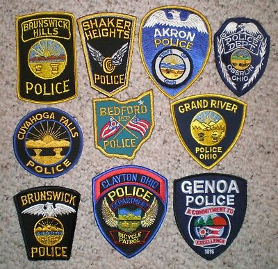 OH Ohio 10 police patch lot - many vintage patches
