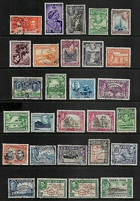 BRITISH COLONIES mixed collection No.35, King George VI KGVI, used