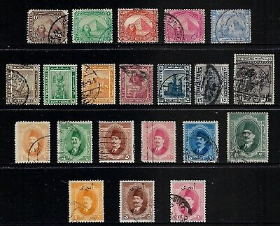 EGYPT mixed collection No.22, from 1888, incl Official surch, mostly used