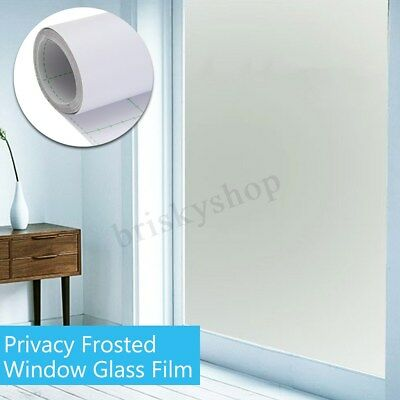 White Frosted Window Tint Glass Etched Frost Privacy Film Vinyl Home Office