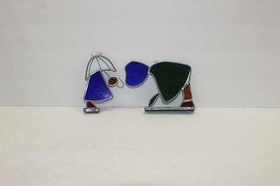 2 TIFFANY Stained Glass Collectors Society Suncatchers PEOPLE THINGS