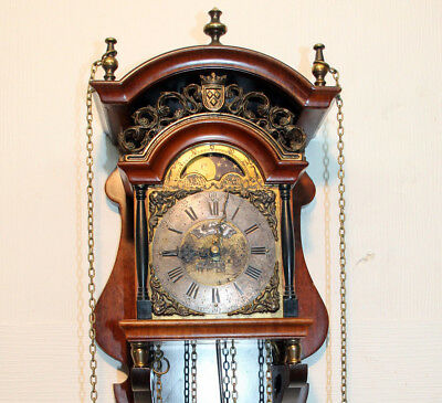 Old Wall Clock Chime with Moonphase  *WUBA*WARMINK*TEMPUS FUGIT* with Moonphase