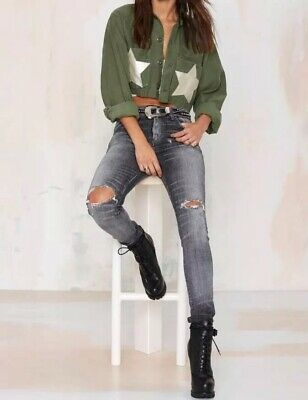 69d49d9c7 $160 NWOT After Party Nastygal Womens Green Air Force Jacket Size Small  Medium