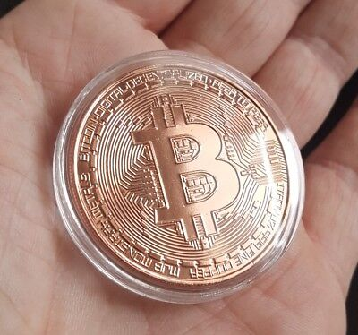 BITCOIN 1oz Pure Copper Physical Bitcoin Proof Coin - FAST SHIPPING!!