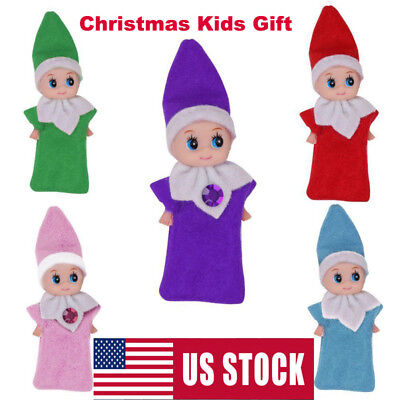 US Elf on The Shelf Plush Dolls Figure Christmas Toy Merry Xmas Kids Baby Gifts