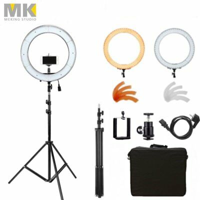 """19"""" 5500K Dimmable Diva LED Ring Light Diffuser with Light Stand Make Up Studio"""